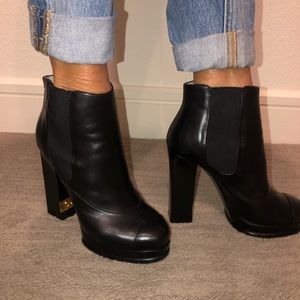 Chanel black booties